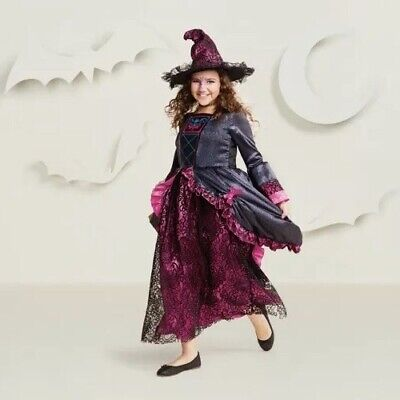 NEW Light Up Antoinette Witch Steampunk Girl's Halloween Costume Size Medium 7-8