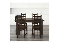 Ikea KAUSTBY dining table with 4 chairs