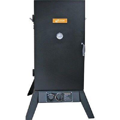 New Weston 41-0701w 30 Gas Propane Smoker Cooker Kit