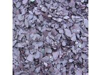 20 mm plum slate decorative chips