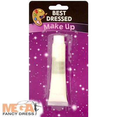 Painted Ghost Faces Halloween (White Make-Up Cream Fancy Dress Halloween Face Paint Ghost Costume Accessory)