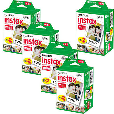 100 Prints Fujifilm instax Mini Film for Fuji 25 50s 7s, 8, 90 & 300 Mini Camera