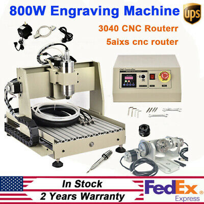 800w 5 Axis 3040 Cnc Router Engraver Milling Machine Ball Screw Cutting Machine