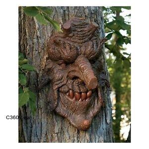 Garden Art Tree People Faces Ornaments Yard Statues Decor