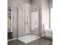 Apollo frameless Shower Enclosure 1000x900