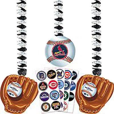 MLB BASEBALL CUSTOMIZABLE HANGING CUTOUTS (3) ~ Birthday Party Supplies -