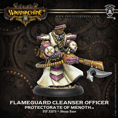 Privateer Press Protectorate of Menoth Flameguard Cleanser Officer PIP 32075 NEW