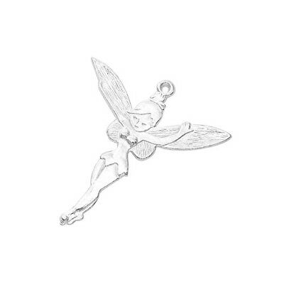 Packet 8 x Silver Tibetan 51mm Fairy Charm/Pendant ZX00775