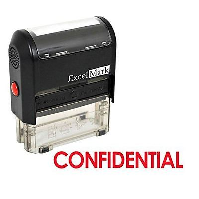 New Excelmark Confidential Self Inking Rubber Stamp A1539 Red Ink