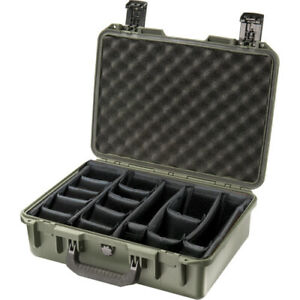 Pelican Storm case IM2300 with Padded divider (green)