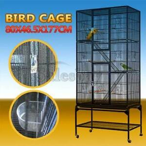 Large Stand-Alone Parrot Aviary Budgie Canary Bird Cage On Wheels Thomastown Whittlesea Area Preview