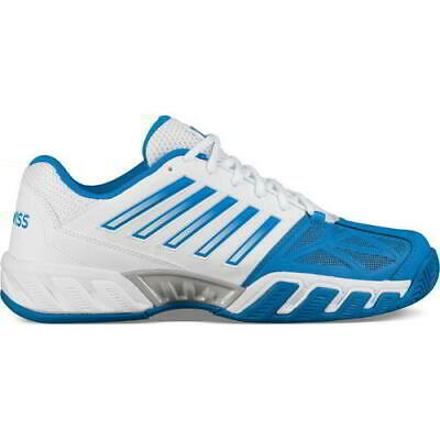K Swiss Bigshot Light 3 Mens Wide Fit Tennis Trainers Shoes White Blue Size 8-13