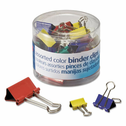 OIC31026 Assorted Colors & Sizes Binder Clips Pack of 30 Clips