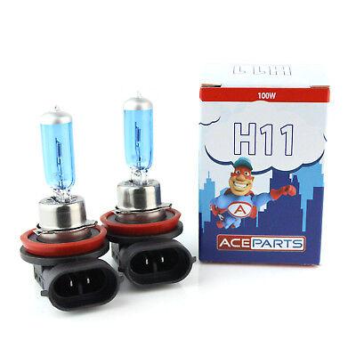 H11 100w Super White Xenon Upgrade HID Front Fog Lamp Light Bulbs Pair