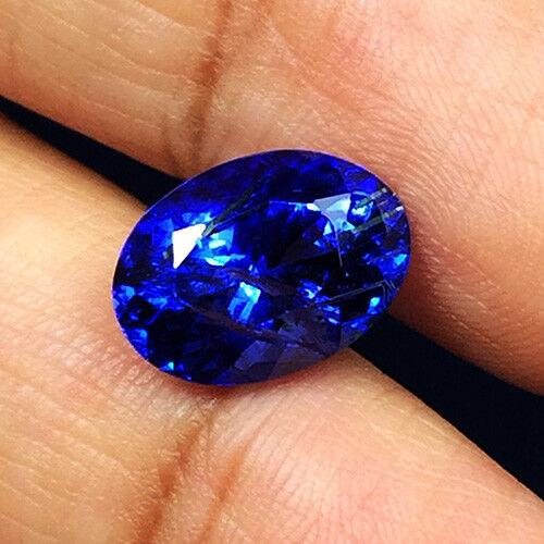 3.88cts Ravishing Color Natural Purple Blue Tanzanite  Loose Gemstone