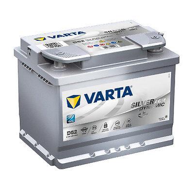Versorgung Caddy (VARTA D52 Silver Dynamic AGM 560 901 068 Autobatterie 60Ah *einsatzbereit*)