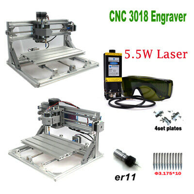 Cnc 3018 Engraver Router 5.5w Laser Module Carving Milling Cutting Diy Machine