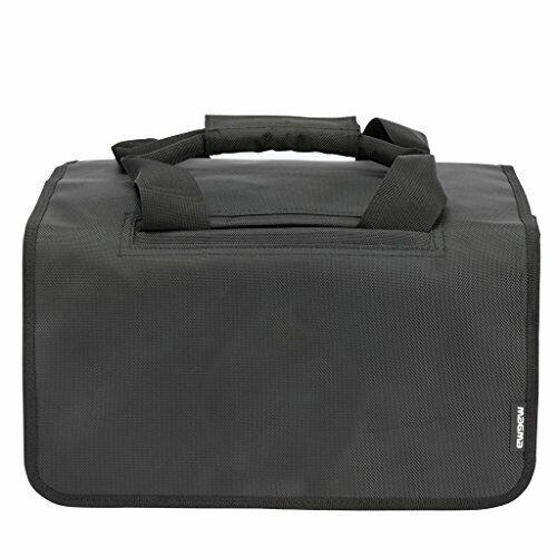 Magma MGA43013 45 Bag for 150 Records, Black/Khaki