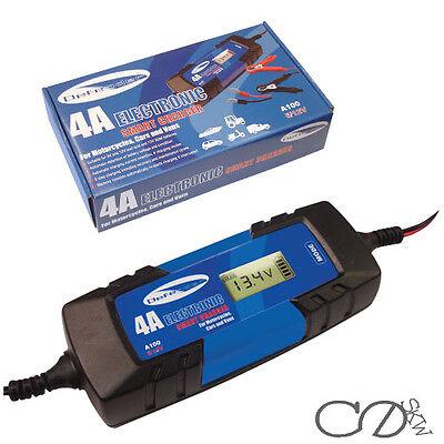 6V/12v 4A Electronic Smart Car Battery Fast Trickle Charger AGM WET ACID
