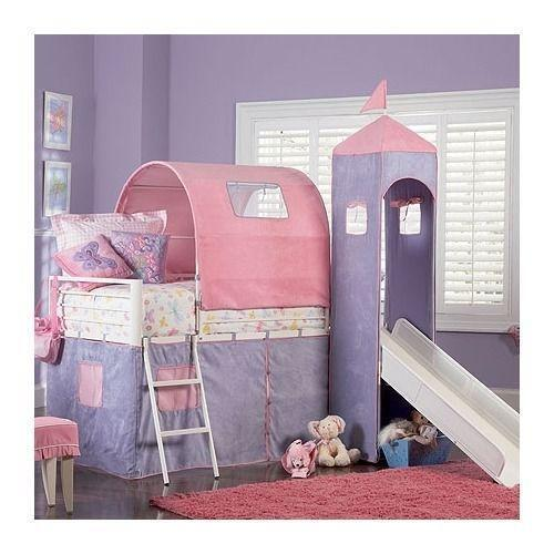loft bed with slide ebay. Black Bedroom Furniture Sets. Home Design Ideas
