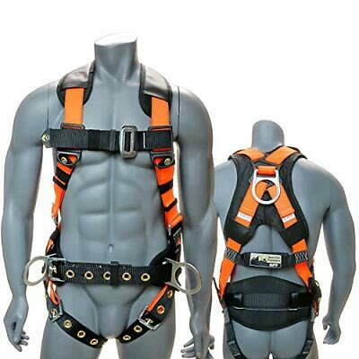 Full-body Fall Protection Safety Harness 3d-ring Wshoulder Padding Padded Back