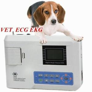 Veterinary Animals Pet 1-Channel 12 Lead ECG/EKG Machine/Electrocardiograph Dogs - BRAND NEW - FREE SHIPPING