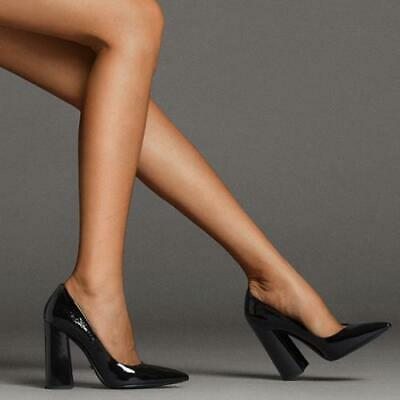 Details about  /Trendy Ladies Celebrity Gift Block Heel Slip On Casual Pointy Toe 35//43 Shoes L