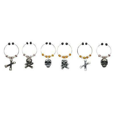 The Bone Collector Wine Glass Charm Set by Boston Warehouse Halloween - Halloween Bone Collector