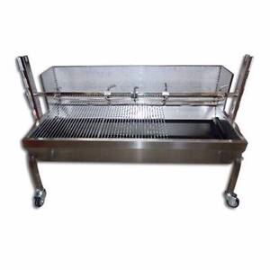STAINLESS STEEL 60KG CHARCOAL PIG SPIT - TRAY AND LEGS ONLY Ashburton Boroondara Area Preview