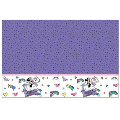 MINNIE MOUSE Unicorn PLASTIC TABLE COVER ~ Birthday Party Supplies Cloth Decor](Minnie Mouse Table Cover)