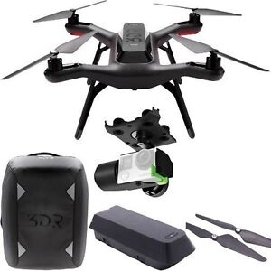 3DR Solo Drone with GoPro Hero 4 Black and handheld Gimbal