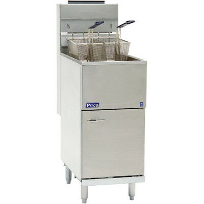 Natural Gas Pitco 35cs 35-40 Lb. Stainless Steel Floor Fryer - 3 Tubes