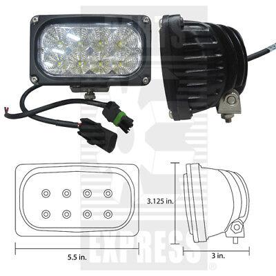 Case Ih Flood Led Cab Light Part Wn-92269c1 2800 Lumens For Tractors Cx Mx Stx