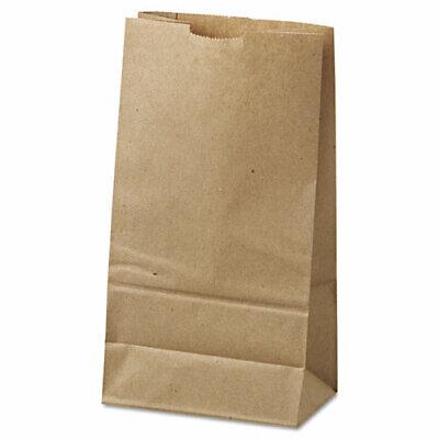 8 Lb Brown Paper Grocery Bags Flat Bottom 500pkg 6.13w X 4.17d X 12.44h