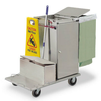 Royce Rolls C30-lst1e Stainless Steel Mini-size Microfiber Housekeeping Cart