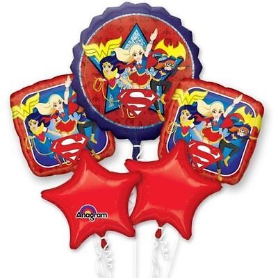 DC Super Hero Girls Balloon Bouquet Birthday Party Decoration SuperGirl - Supergirl Decorations