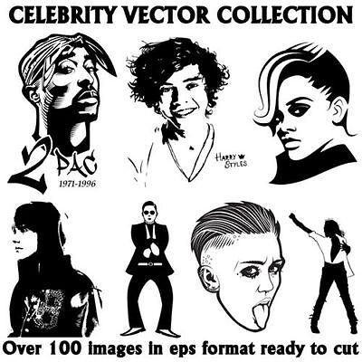 Celebrity Vector Image Collection Epsclipartvinyl Plotter. Download