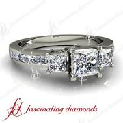 Past Present Future Diamond Ring Princess Cut