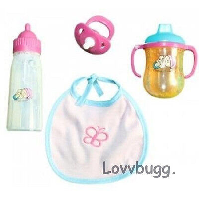 Lovvbugg Doll Feeding Bottle Cup Set for Many Baby Dolls like Bitty Baby