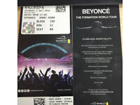 4 x Beyonce Tickets - 02/07/2016 Wembley Arena, Flawless Hostpitality Package