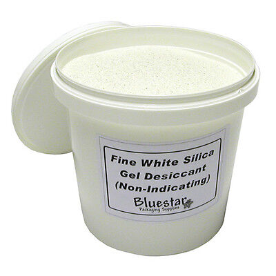 - Fine Pure White Silica Gel Desiccant Granules in Sealed Tubs for Flower Drying