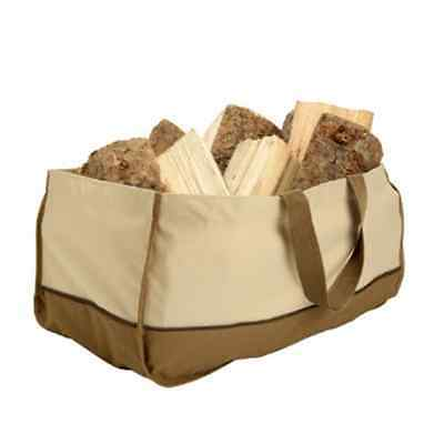 Jumbo Fireplace Firewood Fire Wood Log Canvas Caddy Tote Carrier Holder