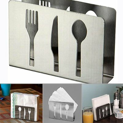 Stainless Steel Paper Napkin Holder Cutlery Cutout Dining Table Decor Rack](Cut Out Decorations)