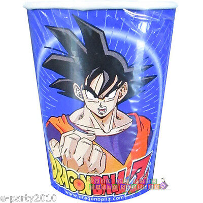 9 Oz Paper Cups (DRAGON BALL Z 9oz PAPER CUPS (8) ~ Birthday Party Supplies Beverage Drink)