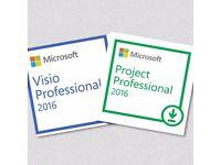 Microsoft visio, Microsoft Project Professional 2016 Digital Key