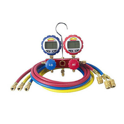 Robinair 43186 2-way Manifold With Digital Gauges 60 In Enviro-guard