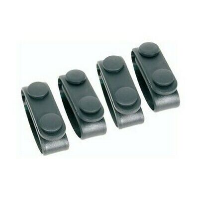Blackhawk 44b300bk Black Belt Keeper W Dual Snap Closure - Pack Of 4