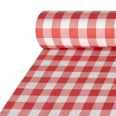 Papiertischdecke für Biertische mit Damastprägung 50 m x 1 m rot