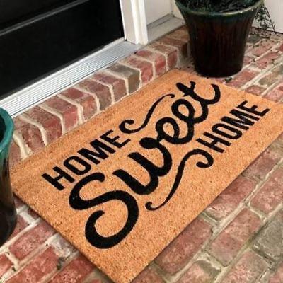 New Natural Coir Non Slip Home Sweet Home Floor Entrance Door Mat Indoor Outdoor Home Coir Door Mat