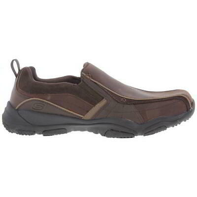 Skechers Wide Fit Larson Berto Mens Leather Slip On Shoes Size 7 13